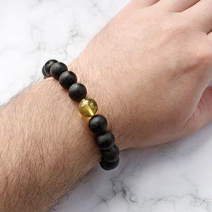 Other - 💥Raw Black Amber Bracelet